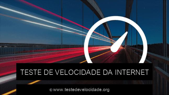 Teste de velocidade da internet
