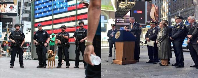 Más de cinco mil policías anti terrorismo protegen a Nueva York en día de elecciones