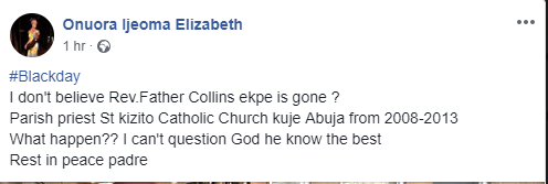 Rev. Father Collins Ekpe dies in his room in Chicago