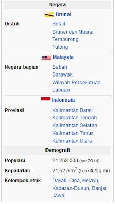 Pulau Kalimantan atau borneo Indonesia wisataarea.com