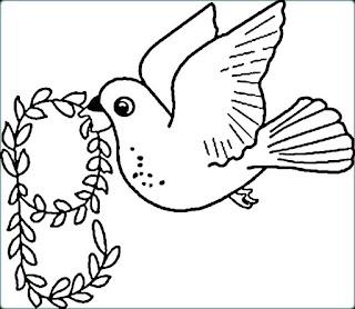 Printable Dove Coloring Sheet
