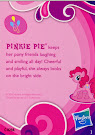 My Little Pony Pony Collection Set Pinkie Pie Blind Bag Card