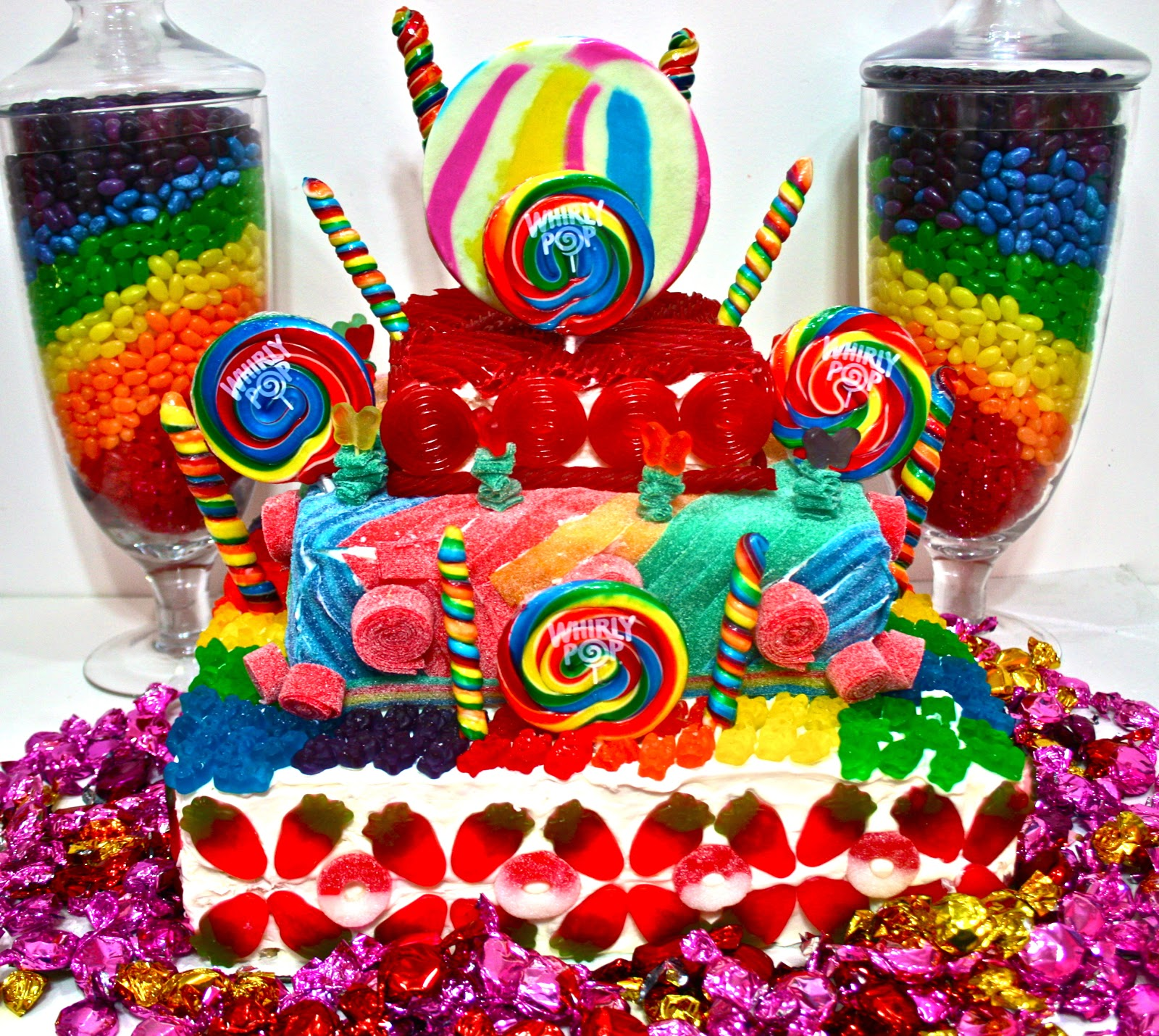 Cotton Candy Cake Decorations