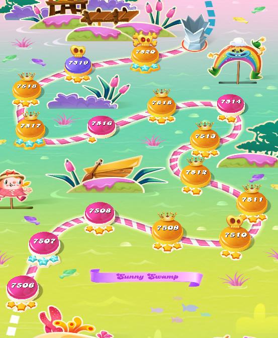 Candy Crush Saga level 7506-7520