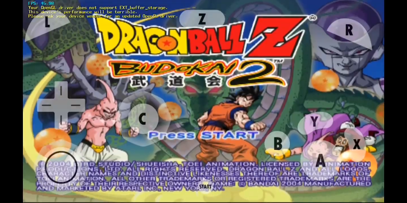 Dragonball Z BUDOKAI 2 FOR ANDROID Dolphin emulator