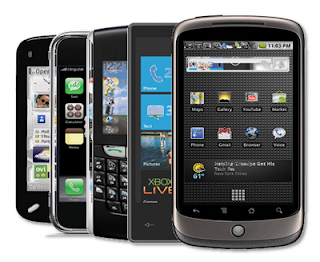 A selection of some very 'smart' phones.
