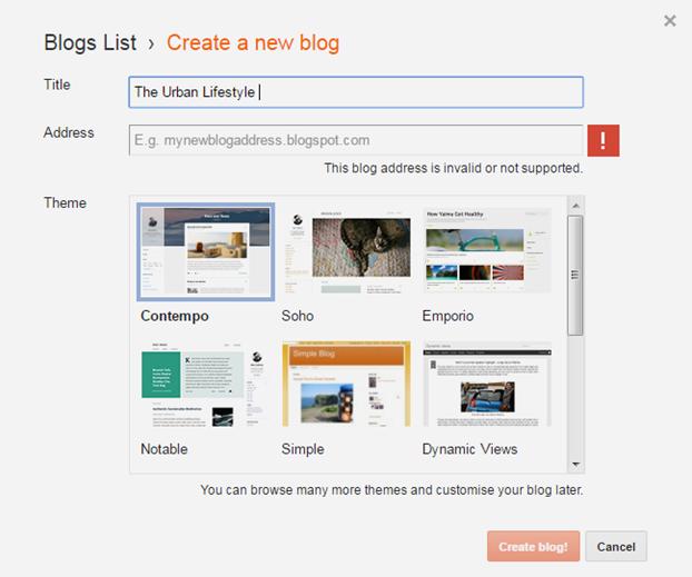 Step 2  Choose Your Blog Name