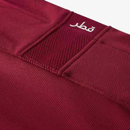 562dbc61fb5 The shorts and socks of the Qatar 2018 home kit are maroon.