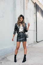 Black Leather Skirt and Boots