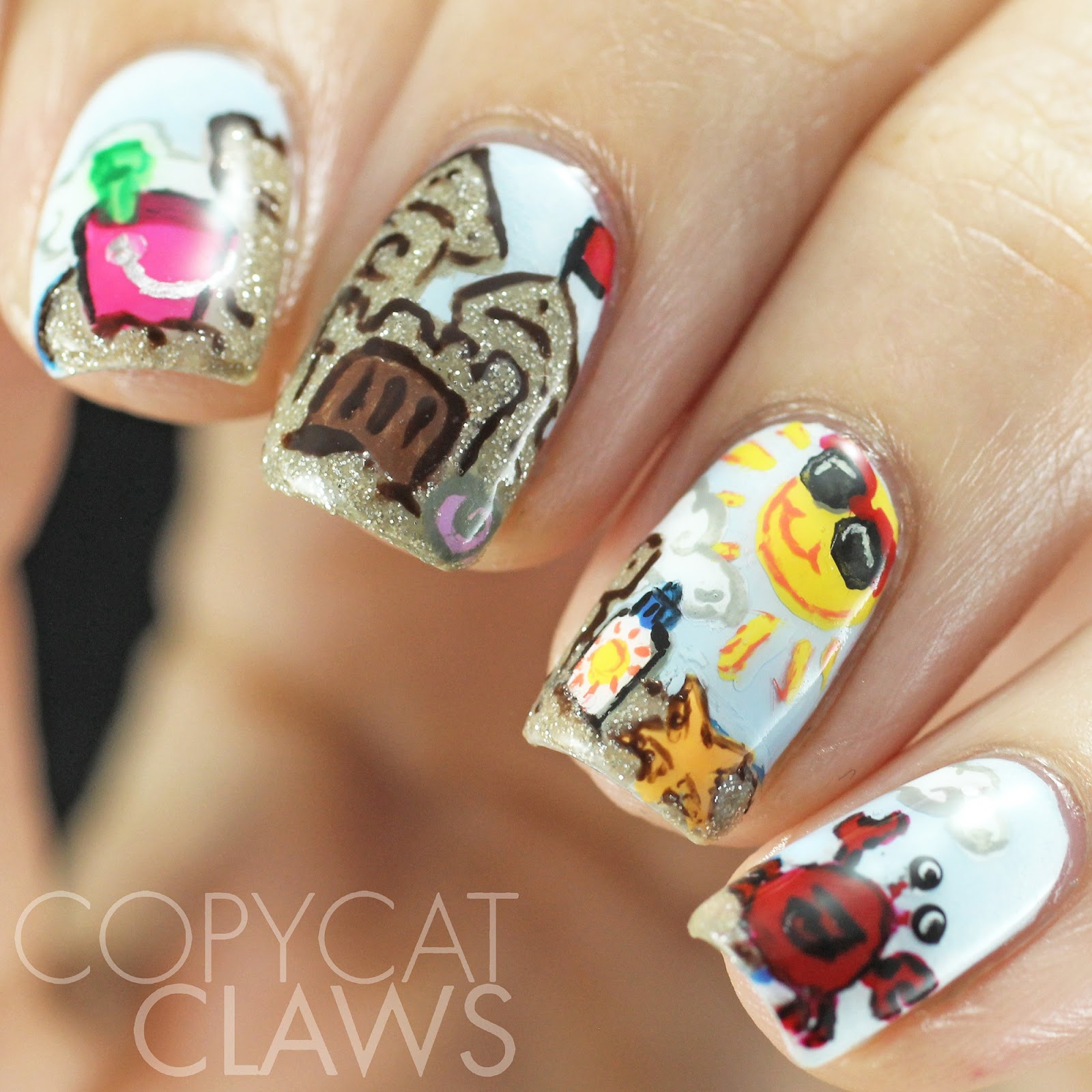 Copycat Claws: Summer Nail Art Twinsies with Lady Maid Nails