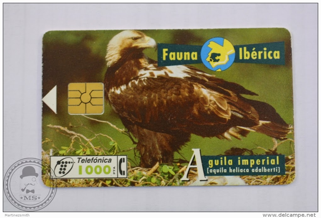 Tarjeta telefónica Águila imperial (Aquila heliaca adalberti)