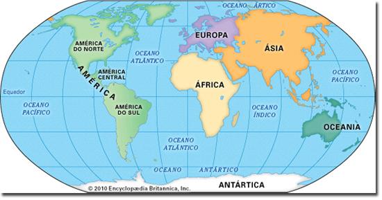 Mapa Mundi 7 Continentes