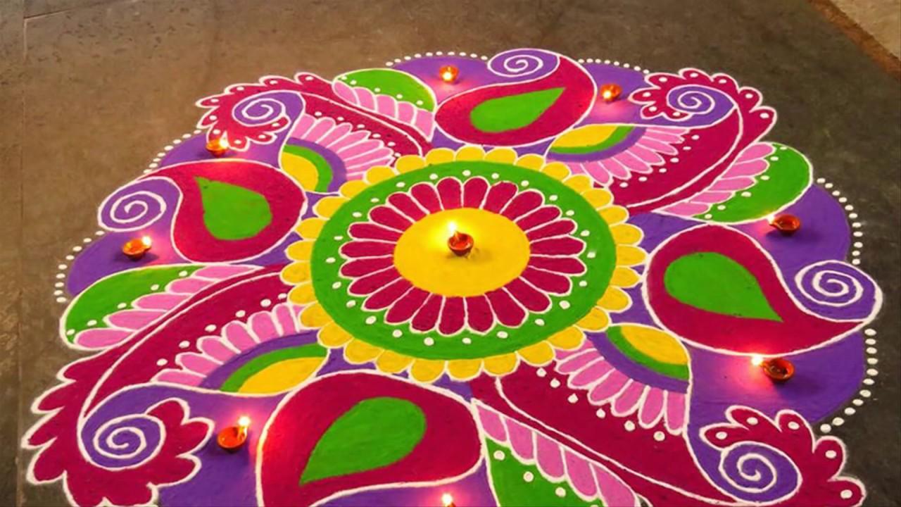 Holi Rangoli Pattern