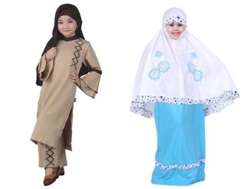 setelan baju muslim anak perempuan