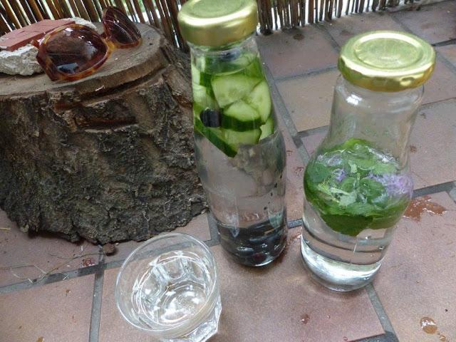 Sommer Getränk trinken Highlights selber machen Rezept Infused Water