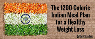 1200 calorie Indian Meal plan for healthy weight loss