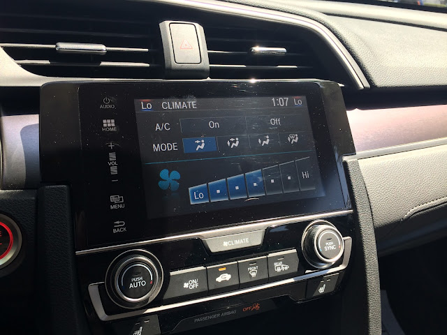 2016 Civic touchscreen - climate control