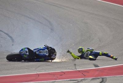 Jatuh di GP Amerika, Ini Komentar Rossi