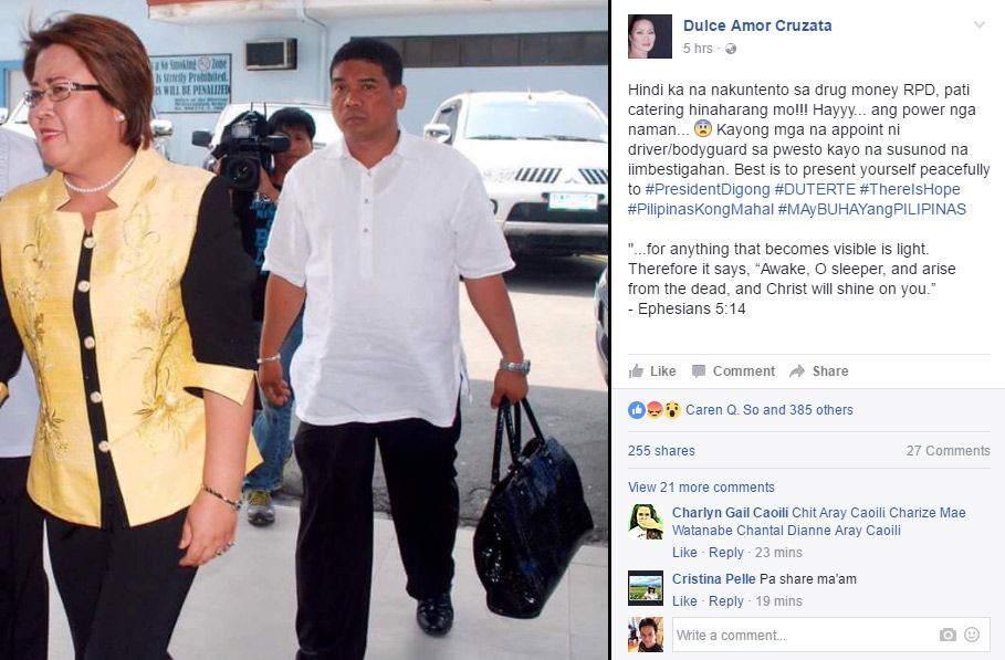 Dulce hits De Lima's 'driver-lover': Is this the real Ronnie Dayan