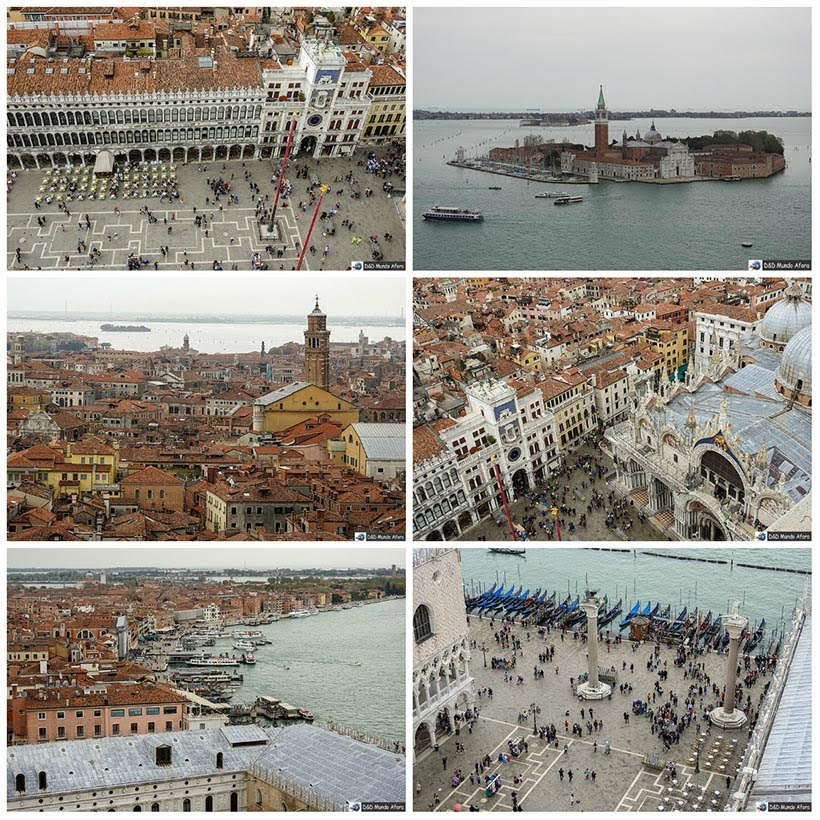 Veneza vista do Campanário Diário de Bordo - 1 dia em Veneza