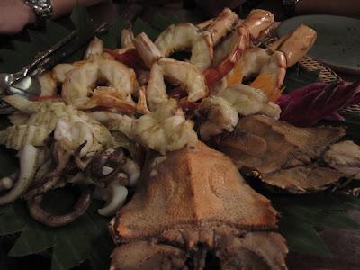 Bangkok, Baan Khanitha, grilled seafood