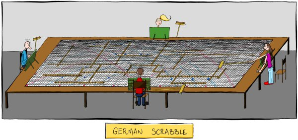 Funny German Scrabble Cartoon Picture