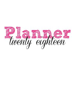 free printable 2018 planner