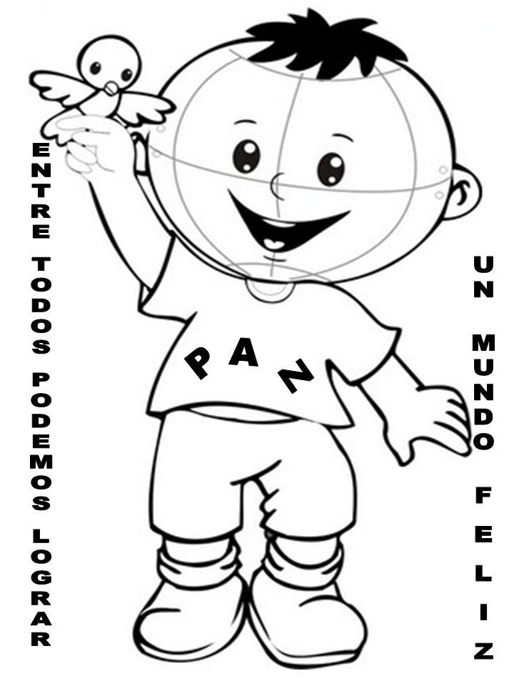 Maestra de Infantil: Dibujos para colorear en el día de la PAZ ...