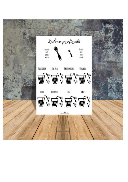 kuchenne przeliczniki do druku