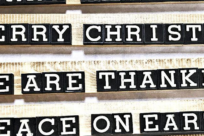 Vintage Anagram Tile Signs