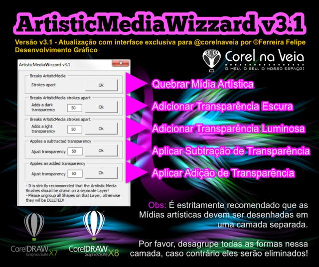 CorelDRAW X8 mídia artística