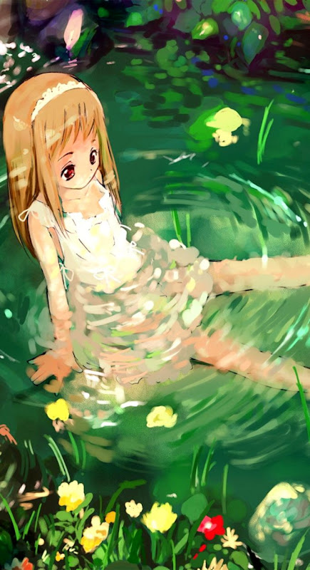 Cute Girl And Green Apple Hd Wallpaper Wallpapers Dope