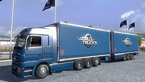 Mercedes Benz Actros BDF Tandem + trailer