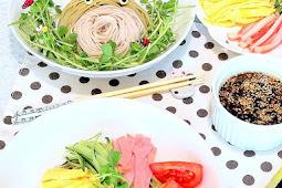 Cha Soba Hiyashi Chuka (Japanese Cold Noodle Salad)