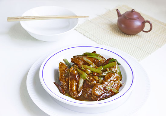 Chinese food - Fried chicken wings in Chinese spicy style