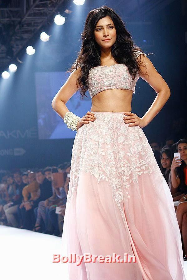 Shruti Hassan for Shehla Khan, Shruti Hassan Pics in Bridal Dress from Lakme Fashion Week