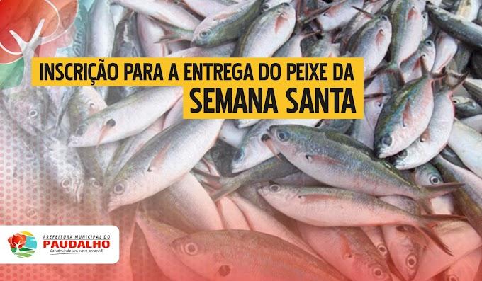 Prefeitura do Paudalho divulga calendário para inscrição da entrega do peixa da Semana Santa
