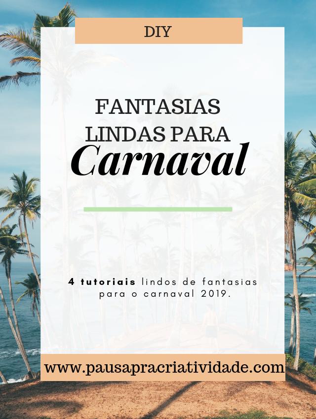 Diy Fantasias para o carnaval