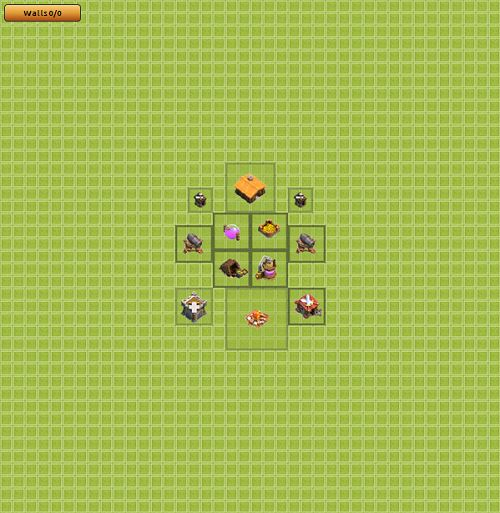 Clash of Clans Town Hall 1 Farming Type