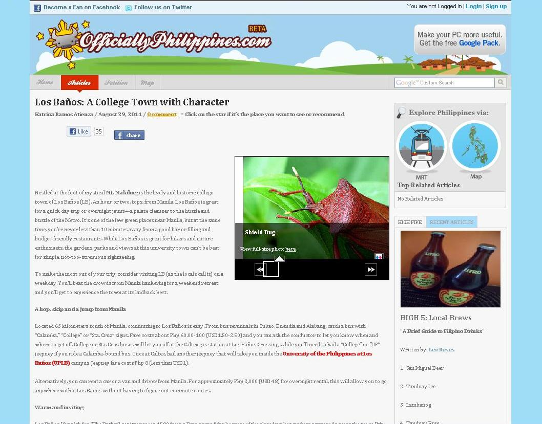 Banos Online.Travel Los Banos A College Town With Character Katrina
