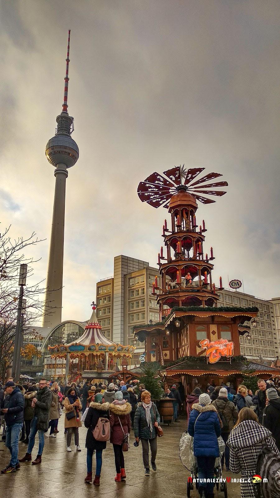 Mercado de Navidad Alexanderplatz en Berlín