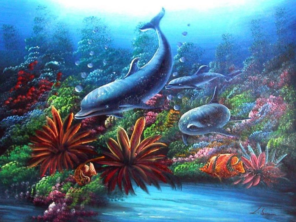 coral reef backgroundCoral Reef Fish Background