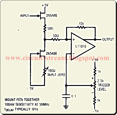 Buffer 50Mhz Trigger Circuit Diagram