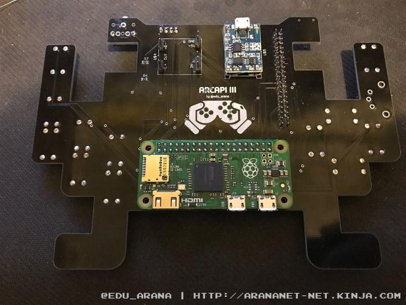 Portátil com Raspberry Pi Zero em PCB