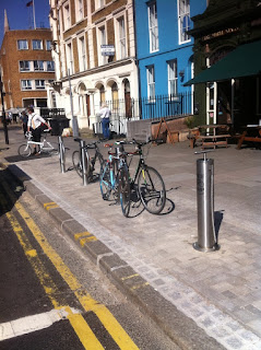 Public bike pump on Kennington Road, Lambeth SE1