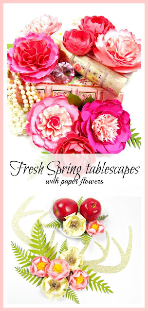Fresh 2017 Spring tablescape ideas. Home and event decor ideas. MamasGoneCrafty.com