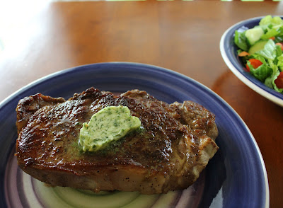 Restaurant Style Seared Steak with Herb Compound Butter