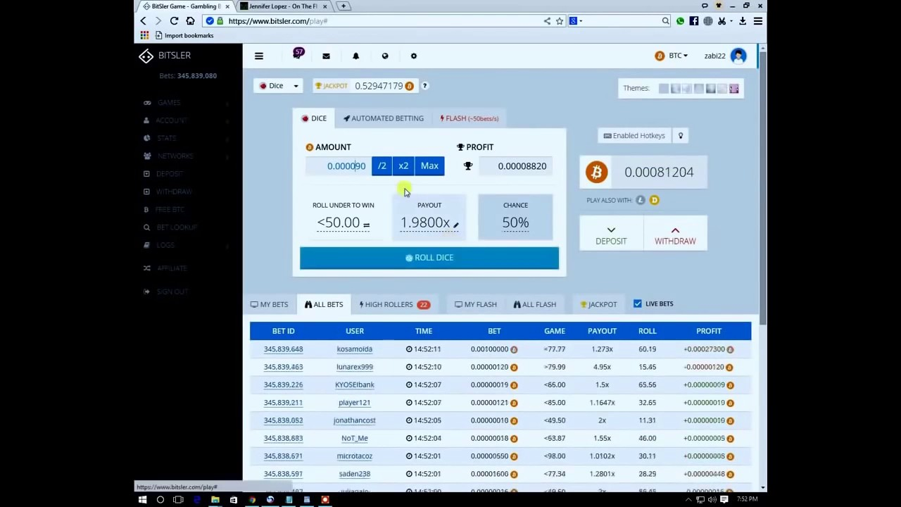 Bitsler Bot And Script Hack - Bitcoin Mining - 1BTC In 5 Min ...