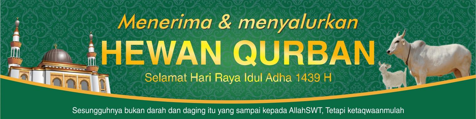 Contoh Spanduk Penerimaan Hewan Qurban CDR | Contoh ...