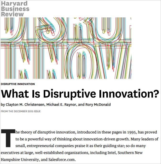 disruptive technology catching the wave pdf